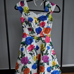 Multicolor Floral Sweetheart Dress